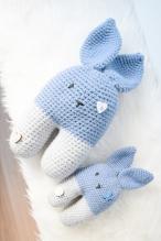 Knuffel konijn, incl. belletje, groot & klein
