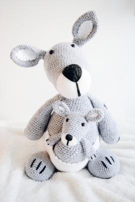 Kangaroo met baby
