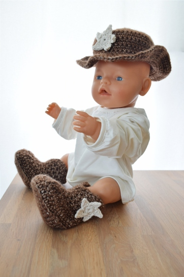 Cowboy setje voor new born shoot