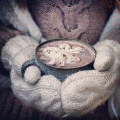 MM013- Gebreide handschoenen. Kleur: wit.